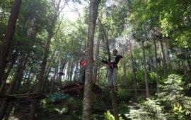 The enjoyable treetop adventure is a great confidence builder